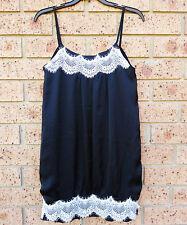 """Women  """"BLockout"""" Black Lace Trim short Dress Size 10 M NEW $89.95"""