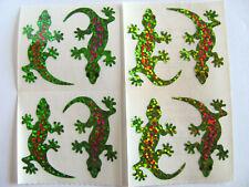 Vtg Hambly Glitter Geckos Sticker Lot - Lizard Chameleon