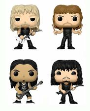 Funko Pop Rocks Metallica Band 13806.07.08.09 Set Of 4