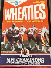 1988 WASHINGTON REDSKINS Wheaties - NFL CHAMPIONS - NEVER OPENED. FREE SHIPPING!