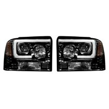 Recon 264193BKC Projector Headlights For Ford Superduty 05-07 F250/F350/F450
