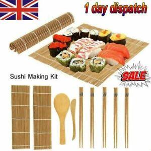 UK Sell Sushi Making Kit Bamboo Rolling Mat Sushi Maker Set Gift for Beginners🍣