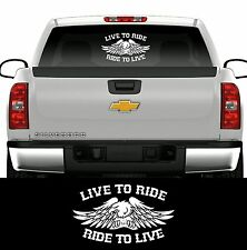 LIVE TO RIDE BUMPER STICKER DECAL MOTORCYCLE BIKER HARLEY