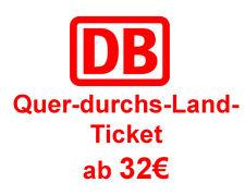 PAYPAL 20€ Bahn eCoupon, Gutschein, DB Bahn Quer-durchs-Land-Ticket