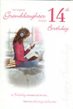 14th GRANDDAUGHTER BIRTHDAY CARD AGE 14 ~ QUALITY CARD WITH LOVELY VERSE BY IC&G