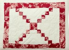 Pottery Barn Andover Patchwork King/Cal King Quilt & 3 Euro & 1 Standard Shams