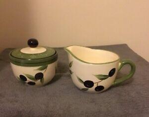 222 FIFTH  EARLY HARVEST Milk/ Cream Jug And Lidded Sugar Bowl