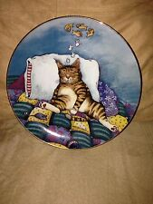 Cat Nap by Gary Patterson Comical Cats Collection Plate #C797 w/Coa