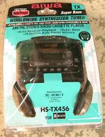 Vintage Aiwa HS-TX456 Stereo Radio Cassette Player AM FM Tape Walkman New Open
