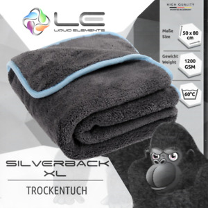 Liquid Elements Silverback XL 50x80cm 1200GSM Mikrofaser Trocken Tuch Autopflege