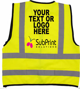 Full Colour Printed Custom Workwear Personalised Printed Hi Vis Safety Vest