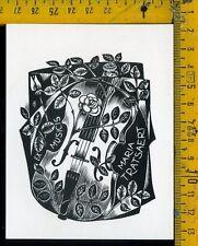 Ex Libris Originale Alexandro Radulescu c 101