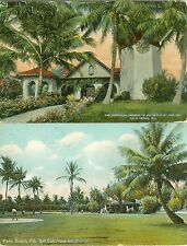 Palm Beach FL The Golf Clubhouse and Grounds & Episcopal Church of Bethesda Set