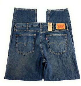 NWT Levi's Men's 559 Relaxed Straight 100% Cotton Distressed Blue Jeans 38x34