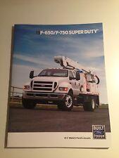 2015 Ford F-650/F-750 Super Duty 20-page Original Sales Brochure
