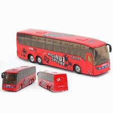 1:50 Alloy Toy Pull Back Flashlight Music Simulated City Bus Model Random Color