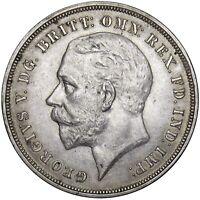 1935 CROWN - GEORGE V BRITISH SILVER COIN - V NICE