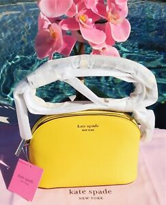 🌸 Kate Spade Spencer Small Dome Crossbody Saffiano Leather Light Bulb NEW $158