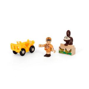 """Brio 33865 Spielpäckchen """" Safari """" With Vehicle for Wooden Railway New! #"""