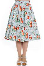 Hell Bunny Somerset Rockabilly Swing Retro Vintage Tea Day Dance Skirt XL-4XL