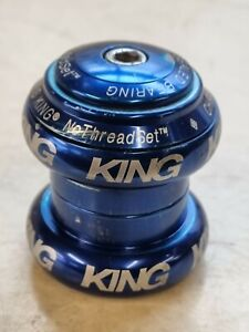 """Chris King NoThreadset 1 1/8"""" headset 1/8in Anodised Blue"""