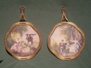 2 Victorian Framed EJS CO. Picture Prints # 6307 { Music Hour / Innocence}