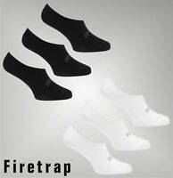 3 Pack Ladies Firetrap Casual Low Cut Soft Feel Invisible Socks Size 4-8