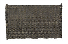 Park Designs TWEED - CHARCOAL Cotton Placemat - Gray, Tan, Black