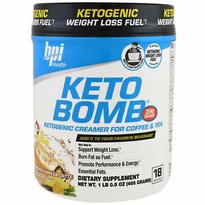 Keto Bomb, Ketogenic Creamer For Coffee & Tea, French Vanilla Latte, 1 lbs 0.5