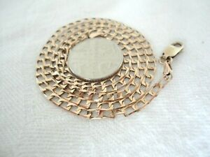 Superb Vintage 375  9ct Gold Curb Chain Necklace , Fully Hallmarked