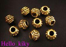 70Pcs Antiqued gold plt beaded ornate jar spacer beads A9