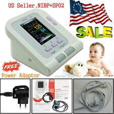 Neonate New Born use Digital Blood Pressure Monitor Machine NIBP+ SpO2 probe+USB