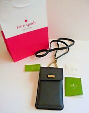 Kate Spade NY NWT North South Black Crossbody iPhone Leather Case Retail $118