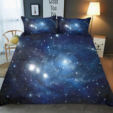 3D Galaxy Space Quilt Duvet Doona Cover Set Star Bedding Set Pillowcase All Size