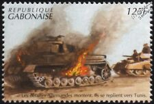 WWII North Africa Campaign: Defeated German Tanks Retreat to Tunis Stamp