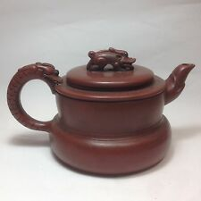 Yixing Pottery Purple Sand Teapot, Dragon Design TE23-19