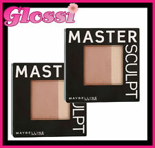 10 X MAYBELLINE MASTER SCULPT POWDER & HIGHLIGHTER ❤ 01 LIGHT MEDIUM ❤ GLOSSI