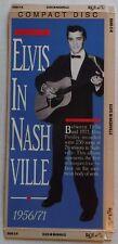 "ELVIS PRESLEY – ""IN NASHVILLE"" - EMPTY CD LONGBOX – LONG BOX ONLY- NO CD OR CASE"