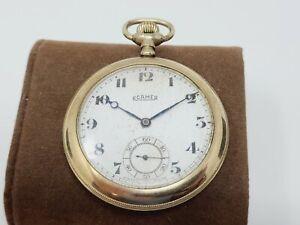 VTG 1900's ROAMER SWISS POCKET WATCH 17 JEWEL 17J GOLD FILLED WORK PERFECTLY