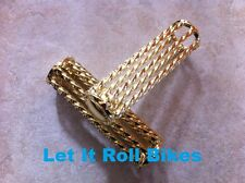 Gold Twisted Bicycle Grips Lowrider Cruiser Bikes