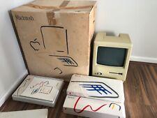 RARE Apple Macintosh 128K M0001 Drexel BOXED Packaging Disks Paperwork Vintage