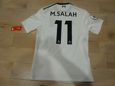 NWT New Balance 2017/2018 Liverpool #11 Mohamed Salah Authentic White Jersey (M)