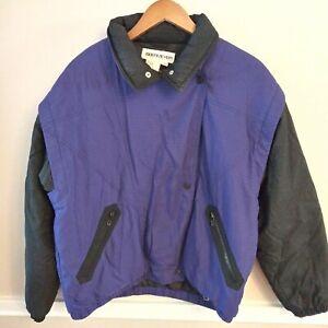 Obermeyer Celeste Black & Purple Ski Coat Jacket Women's Size 12