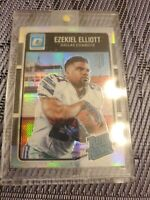 2016 Donruss Optic Ezekiel Elliott RC Cowboys Rated Rookie Silver Prizm Holo 168