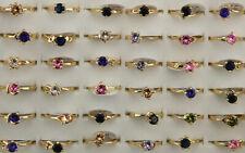 60pcs Wholesale Jewelry Mixed Lots Fashion Cubic Zirconia Wedding Lady's Rings