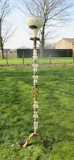 Gorgeous Vintage Floor Standing Lamp  Era Murano Glass Brass Foot Regency style