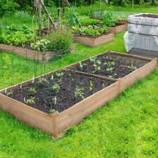 Square Raised Garden Bed Wooden Elevated Planter Box 106/ 80cm Large F Veg Herbs