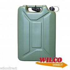 Army Can 20 Litre Plastic Jerry Can 20L With Spout Water Container Fuel Storage