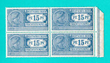 GERMANY BLOCK OF 4 REVENUE STAMPS 15 PF MNH 618