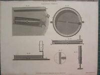 1808 Datato Antico Stampa ~ Magnetismo Variazione Bussola Sezione Ago Diagrammi